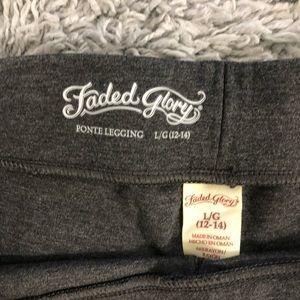 Faded Glory Pants - Charcoal leggings